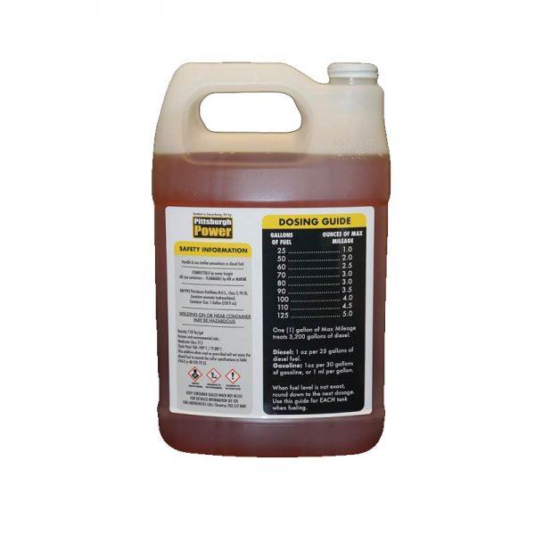 1 gallon max mileage back of bottle